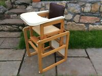 Baby high chair/seat and table