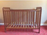 Cot bed wood