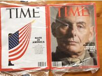 TIME Magazine: Latest 5 Back Issues incl Current Week Issue