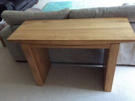 Oak Console table and oak tv cabinet £150 THE PAIR