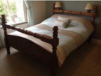 Rustic style Kingsize pine bedframe