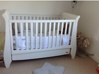 White tutti bambini cot bed used condition