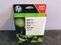 Genuine HP 364 Printer Cartridges 4 Pack