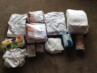 Reusable nappies - various sizes