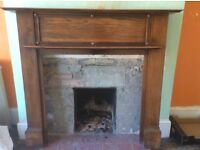 Beautiful antique oak fireplace surround and mantle