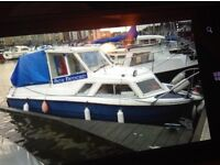 22ft cabin cruiser (micro plus) currently moored at Cardiff Bay Yacht Club