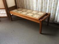 RETRO TEAK AND TILE TOP COFFEE TABLE