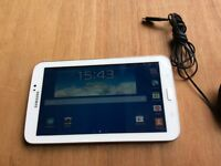 """Samsung galaxy tablet 3 7"""" inch screen 8gb WiFi in pearl white"""