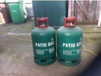 Propane gas bottles,one full