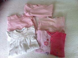 Girl's sleepwear bundle 1-6 months (Petit Bateau, Ralph Lauren, Jacadi, Absorba, Sucre d'Orge)
