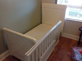 White child's cot bed by tutti bambini
