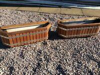Hard wood planters