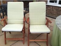 Garden chairs - pair