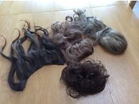 Bundle of hair extensions - brown shades