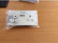 Polished Chrome Double Electrical Socket