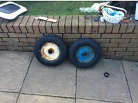 Trailer wheels and tyres,,,SOLD!