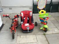 Car seat and bicycle free