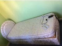 Electric adjustable and massage bed, single