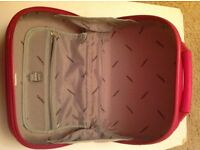 Pink hard shell vanity bag