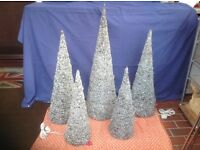 CHRISTMAS TREE CONES - SET OF FIVE