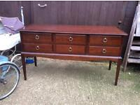 Stag console dressing table drawers