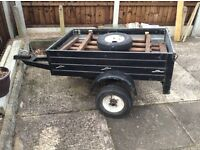Trailer...small all metal incl spare wheel