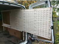 Slide Out Van Racking complete with Plastic Boxes - Suit Transporter Size Van.