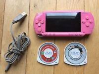 PSP pink limited edition 1003 with games