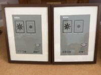2 RIBBA Dark Wood picture frames