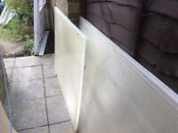 Clear plastic conservatory roofing