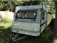 15ft Hobby caravan with awning