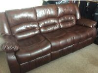 3 Seater and 2 Seater (reclineable) Leather Sofa