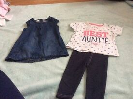 Selection of baby girl cloths