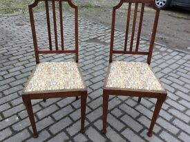 Two pretty antique chairs