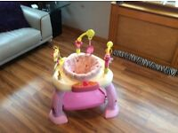 Pink baby bouncer almost knew well worth a look lots of activity play things great price £15
