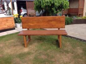 Red Pine Garden Bench