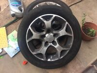 """16"""" alloy wheels with tyers"""