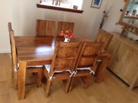 ROSEWOOD dining table & 6 chairs.