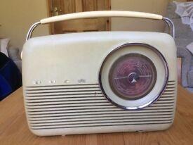 VINTAGE ORIGINAL BUSH 1960's TR82c MW/LW PORTABLETRANSISTOR RADIO