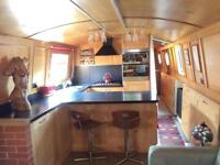 Widebeam live aboard narrowboat
