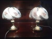 Bedside touch lamps (pair)