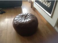 For sale brown leather puffee