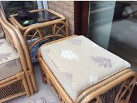 Conservatory chair,footstool & coffee table. All in excellent condition