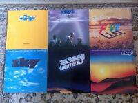 6 SKY VINYL LP RECORDS