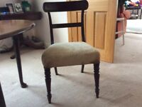 8 Georgian Mahogany Upholstered Chairs including 2 Carvers