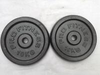 6 x 10kg Pro Fitness v1 Standard Cast Iron Weights