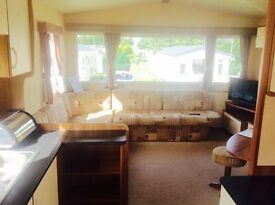 Cheap double glazed and gas central heated 3 bedroom static caravan for sale
