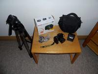 Kodak Z1012 IS Digital Camera c/w Memory Card / Bag and Jessops Tripod