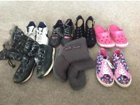 Mixed selection of girls trainers, boots, shoes (3 & 4)