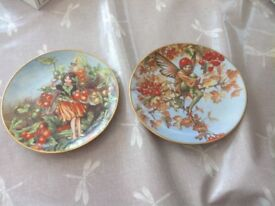 Cicely Mary Barker flower fairies plate collection x 12